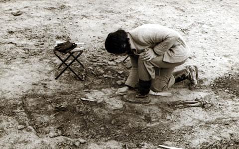 Branislava Mikić Antonić na arheološkom iskopavanju na lokalitetu Perlek